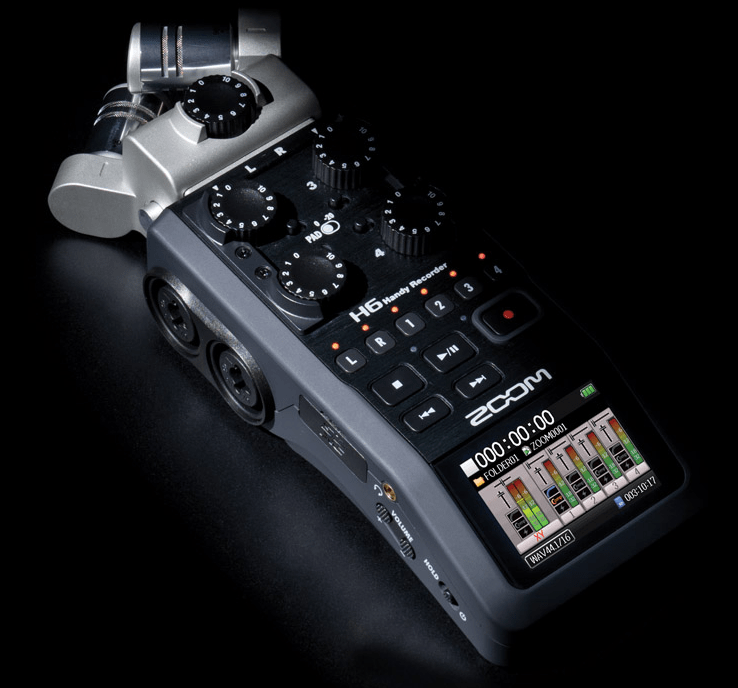 Zoom H6 Portable Audio Recorder Teaser Synthtopia