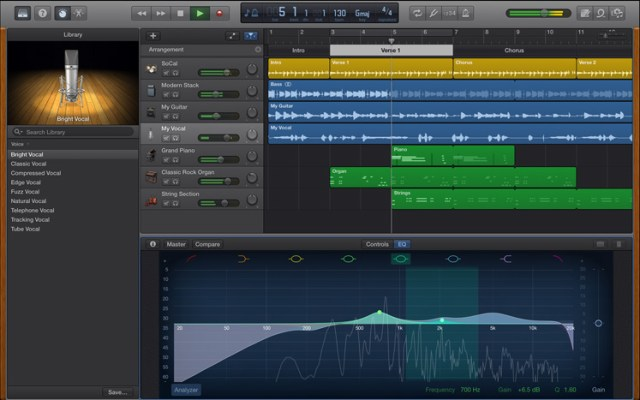 GarageBand Updated For Yosemite, Brings Back AU Control – Synthtopia
