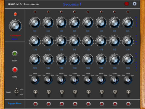 r960seq puts moog inspired step sequencer on your ipad synthtopia. Black Bedroom Furniture Sets. Home Design Ideas