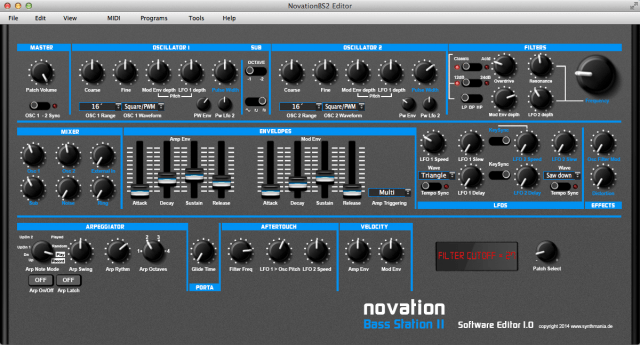 Novation Bass Station 2 Editor For Mac, Windows | Synthtopia