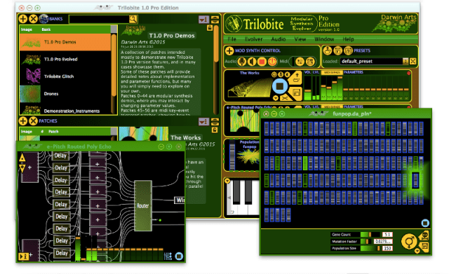 trilobite software modular synthesizer uses natural selection to make bizarre sounds synthtopia. Black Bedroom Furniture Sets. Home Design Ideas
