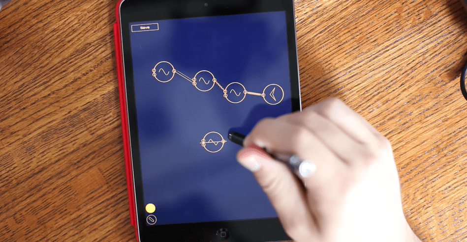 new ipad synth auraglyph lets you draw your modular synth patches synthtopia. Black Bedroom Furniture Sets. Home Design Ideas