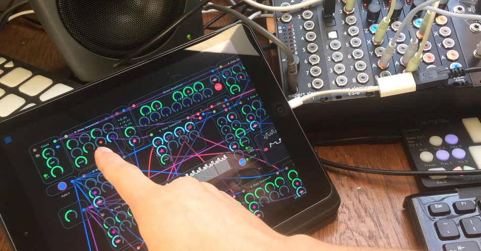 how to use audulus on an ipad with your modular synthesizer synthtopia. Black Bedroom Furniture Sets. Home Design Ideas