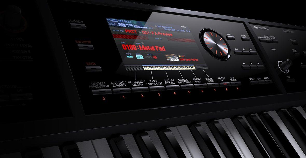 roland intros fa 07 music workstation keyboard synthtopia. Black Bedroom Furniture Sets. Home Design Ideas