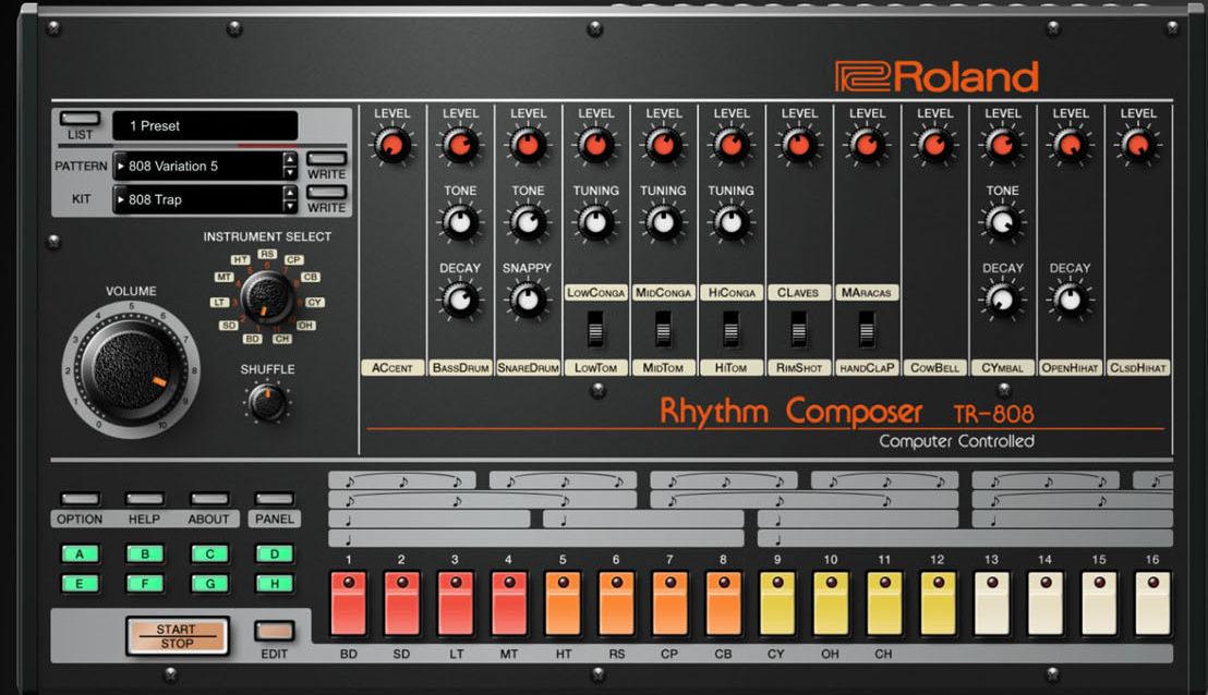 roland cloud adds tr 808 tr 909 vst au plugins synthtopia. Black Bedroom Furniture Sets. Home Design Ideas