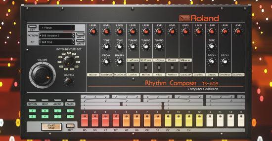 roland cloud adds virtual tr 808 rhythm composer synthtopia. Black Bedroom Furniture Sets. Home Design Ideas