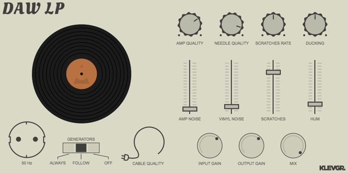 Klevgrand Intros DAW LP, Vinyl Player Simulation For iOS, macOS