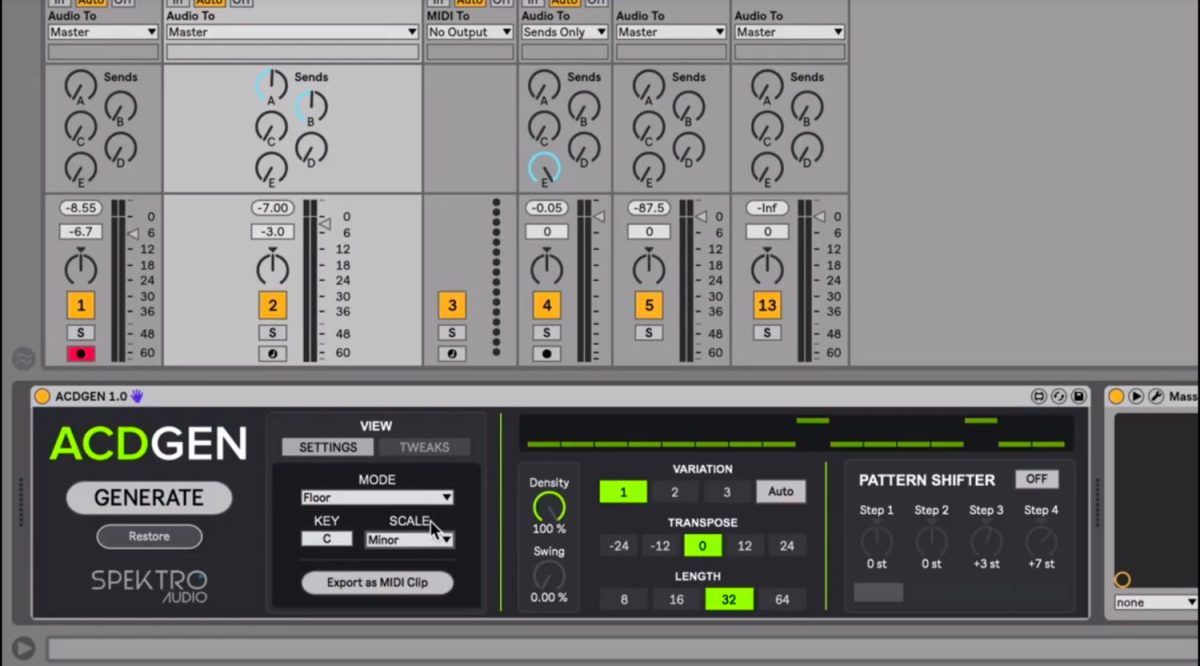 Spektro Audio Intros ACDGEN, An Acid-Style Max For Live Pattern