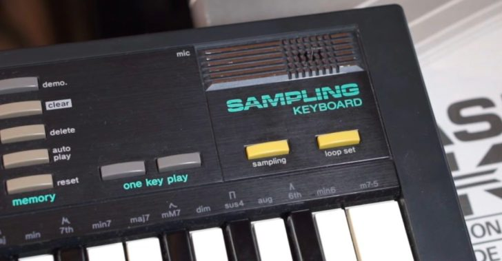 Making A Complete Track With A Vintage Casio SK-1 Sampling