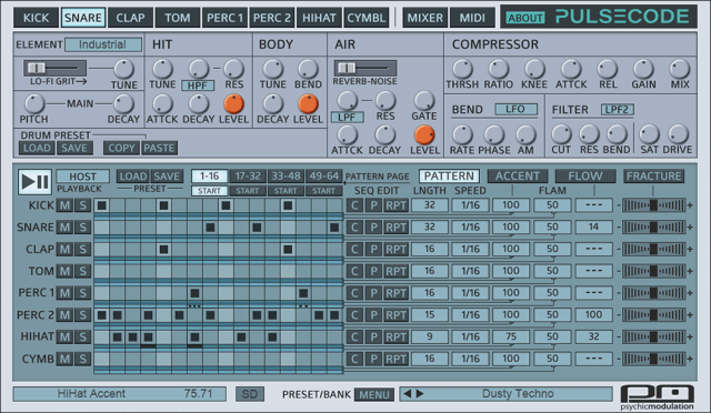 New Drum Machine App, PulseCode, Inspired By 80's Lo-Fi Drum