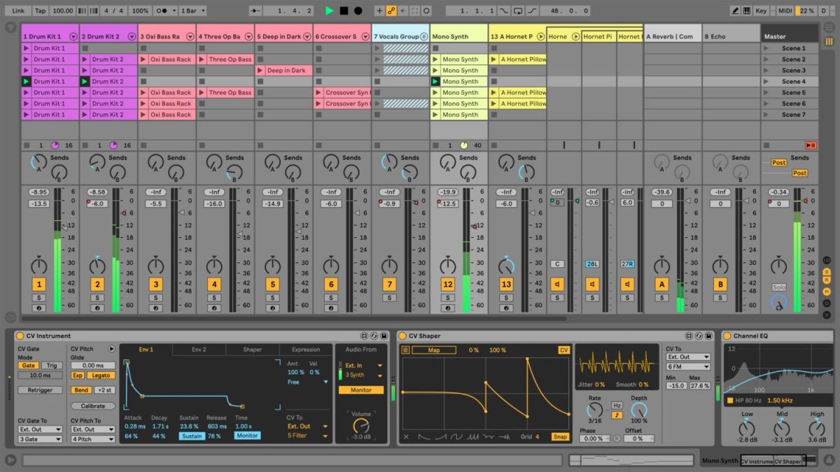 integrate ableton live modular synthesizers with cv tools synthtopia. Black Bedroom Furniture Sets. Home Design Ideas