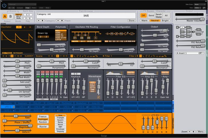 Free & Open Source Software Synth, SURGE, Now Available For
