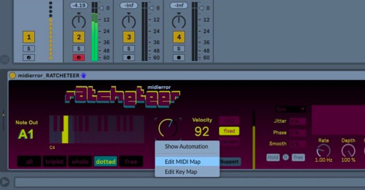 New Max For Live Tool, Ratcheteer, Lets You Easily Generate Trap Rhythms & More