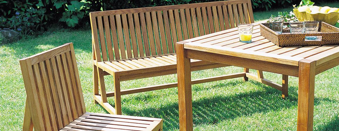 Meubles de jardin en bois ou fer  peintures vernis et huiles  Syntilor