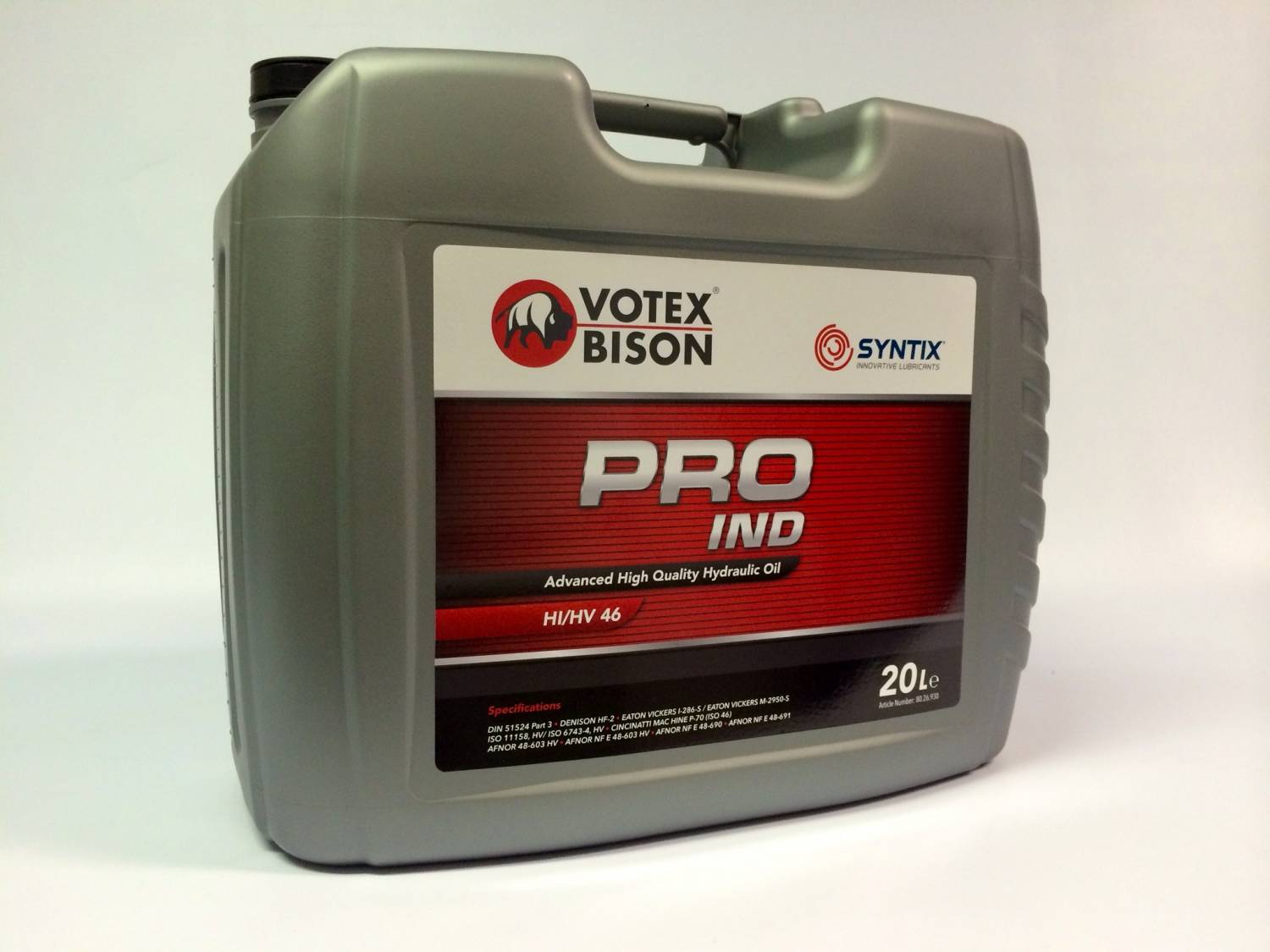 Votex Bison PRO IND - Advanced High Quality Hydraulic Oil - HIHV 46 - Syntix Innovative Lubricants