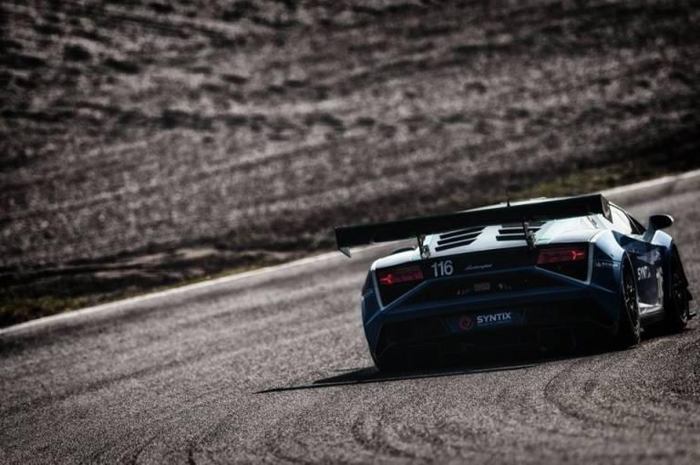Syntix Blue Lamborghini Gallardo LT2 GT3 - Back Picture - Syntix Innovative Lubricants