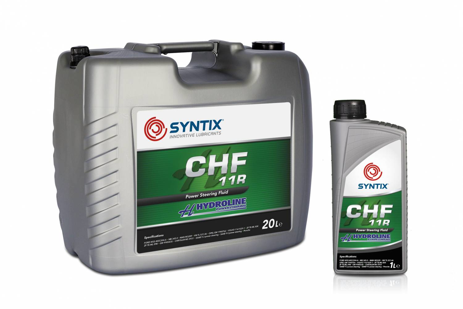 Syntix Joint Label - CHF 11R Power Steering Fluid for Hydroline - Hydroline Powersteering - Syntix Innovative Lubricants