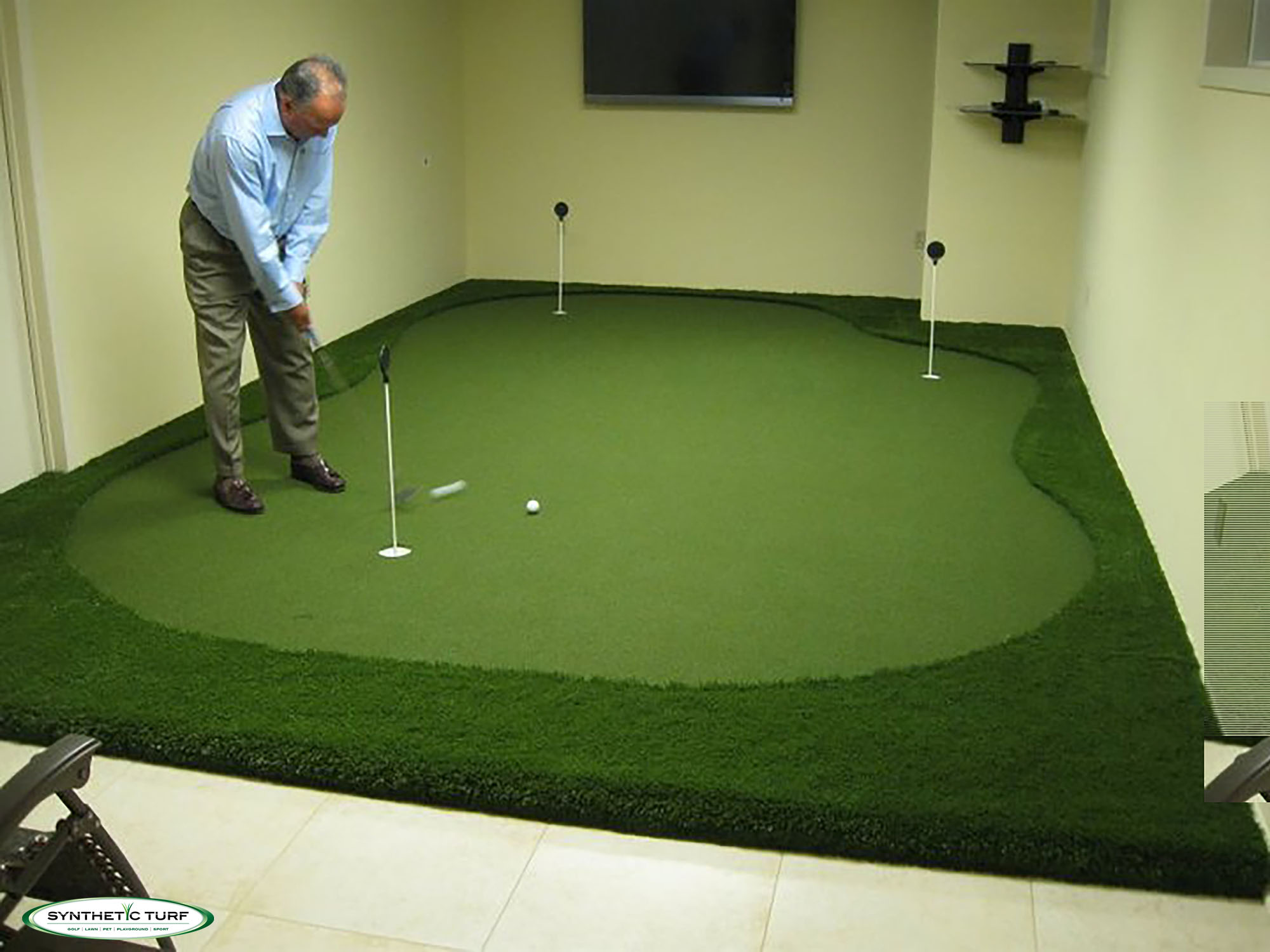 Synthetic Turf Illinois Indoor Putting Green 2 - Chicago Synthetic ...