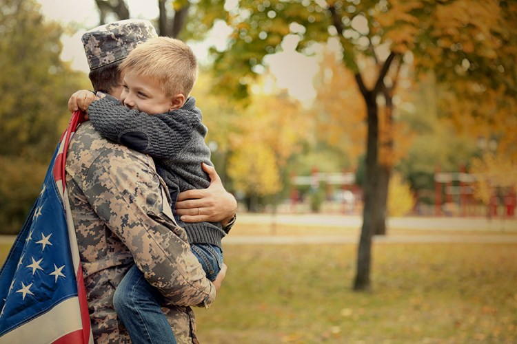 Veteran with family coming home, VA home loan