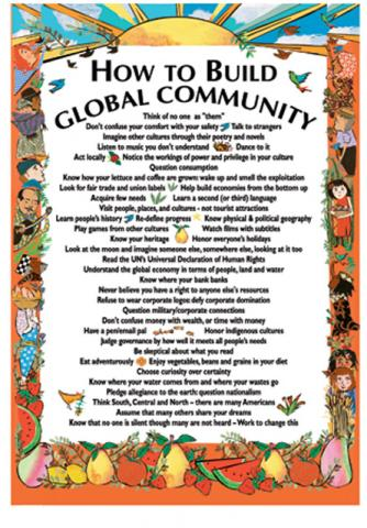 Postcard  How To Build Global Community  Syracuse