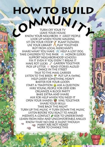 Notecard  How To Build Community  Syracuse Cultural Workers