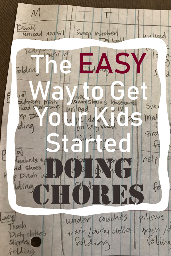 The EASY Way to Get Your Kids Started Doing Chores