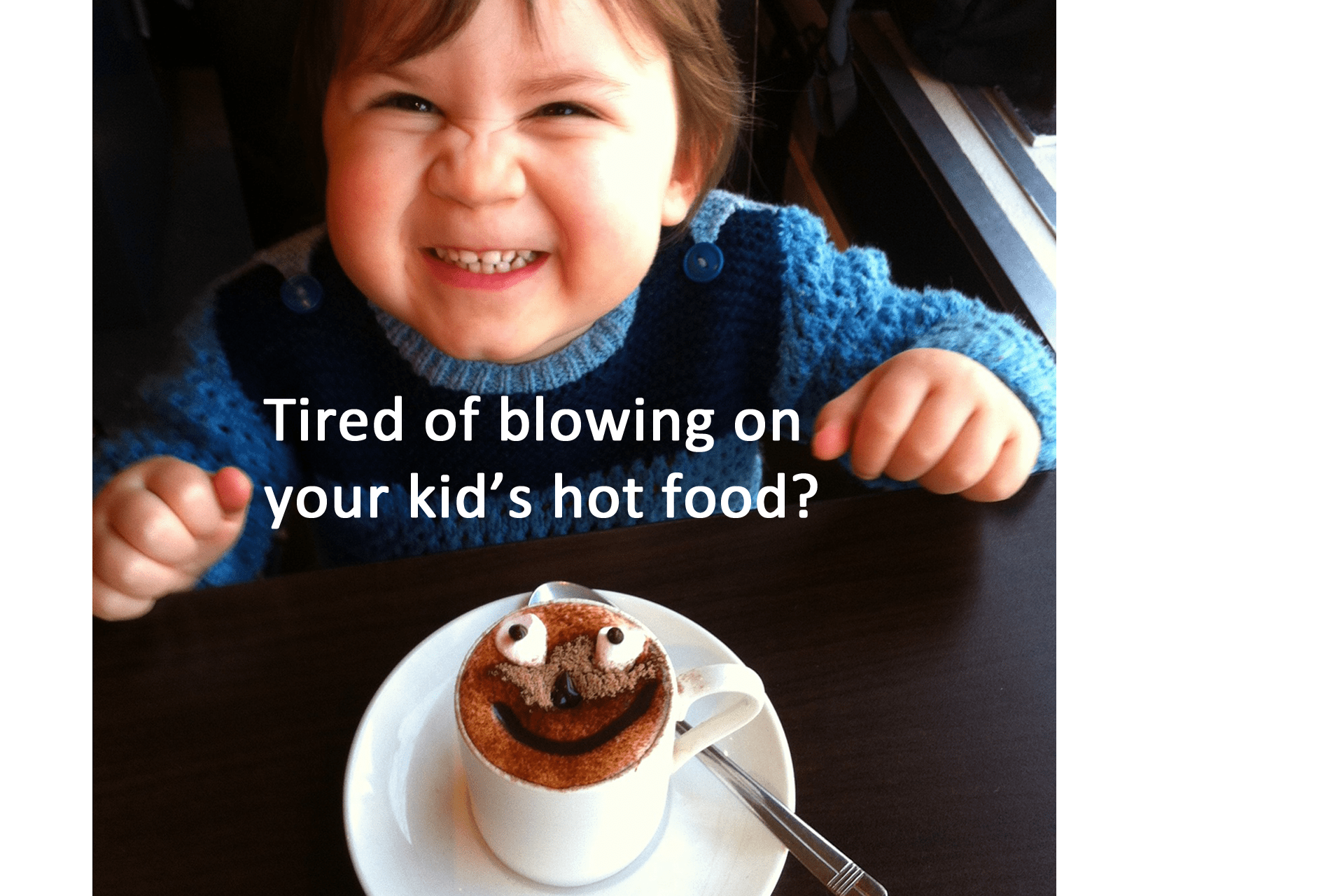 Parenting hack: How to teach your kid how to handle a plate of hot food