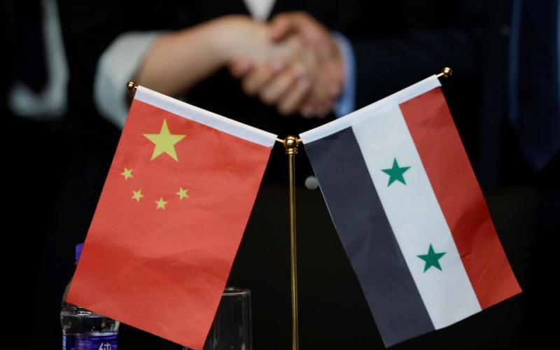 Syria-Intelligence-drapeaux-Chine-Syrie-reconstruction-après-le-conflit
