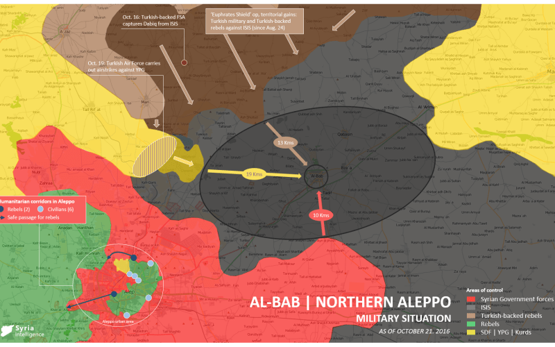 Syria Intelligence - 20161021 - Military situation Northern Aleppo - al-bab