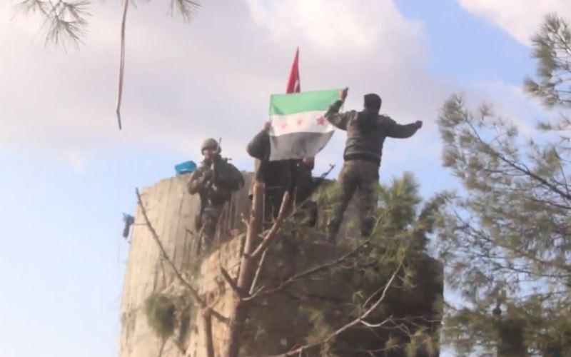 Syria-Intelligence-Afrin-drapeau-ASL-et drapeau-Turquie-Syrie
