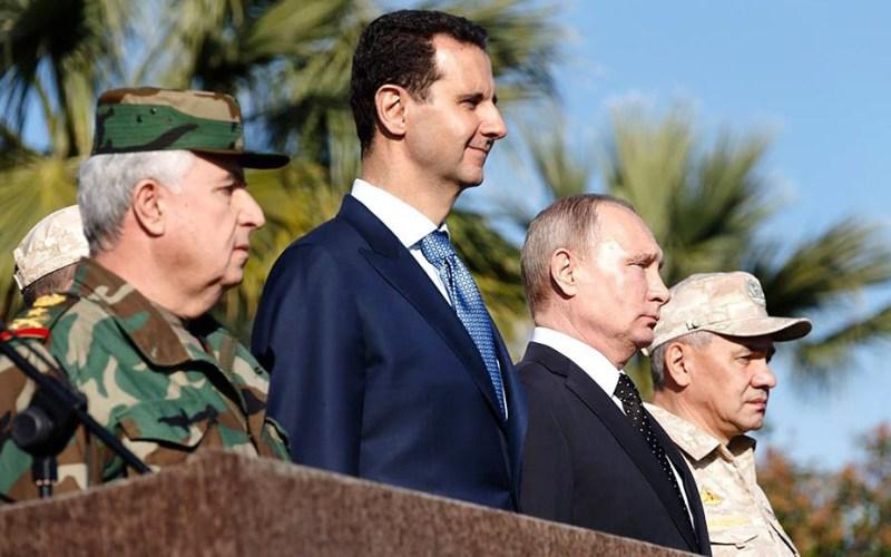 Syria-Intelligence-President-Assad-et-President-Poutine-sur-la-base-russe-de-Hmeimim-Lataquié-Syrie