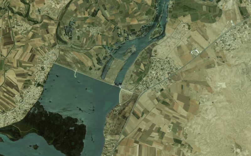 Syria-Intelligence-vue-satellite-euphrate-province-raqqa