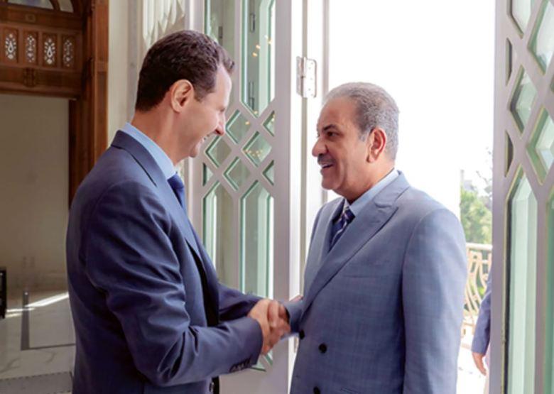 Le Président Bachar al-Assad a reçu à Damas le rédacteur en chef d'Al-Shahed, le cheikh Sabah Al-Mohammad, membre de la famille royale koweïtienne élargie.