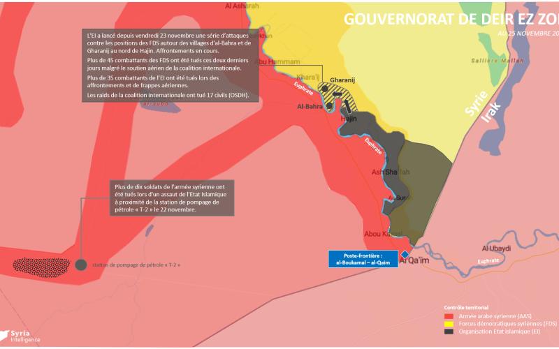 Syria Intelligence - 20181125 - Gouvernorat de Deir EzZor - FDS vs EI