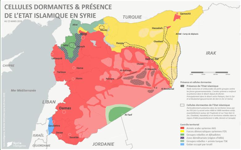 Présence de l'Etat islamique en Syrie après la chute du dernier territoire sous son contrôle