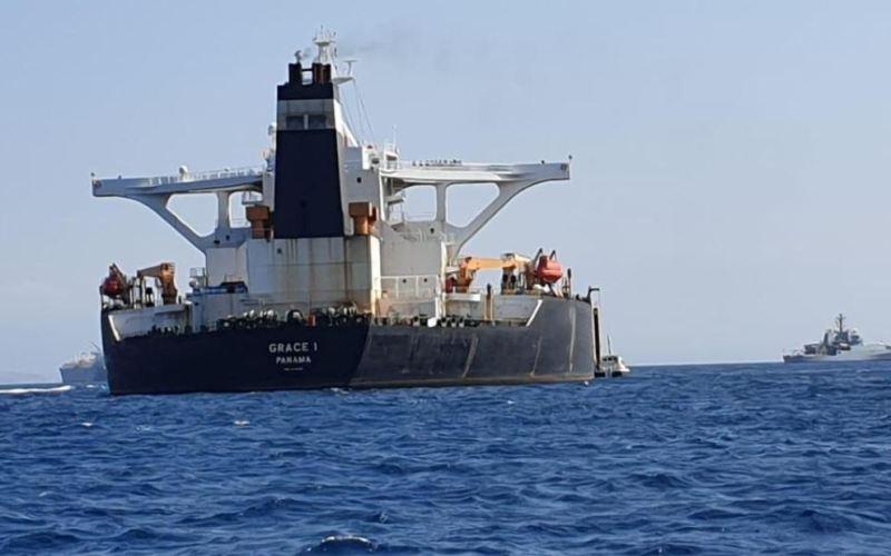 Le pétrolier Grace 1 soupçonné de transporter du pétrole iranien vers la Syrie (image Reuters, le 04 juillet 2019)