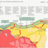 Résumé de l'offensive menée par l'armée turque contre les FDS au nord-est de la Syrie au 5ème jour