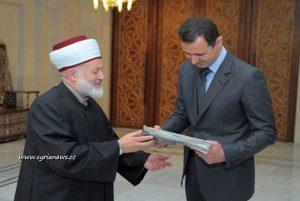 Bashar al-Assad - reption of a Lebanese delegation 21 April 2013