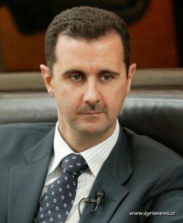 President of Syria Bashar Al Assad