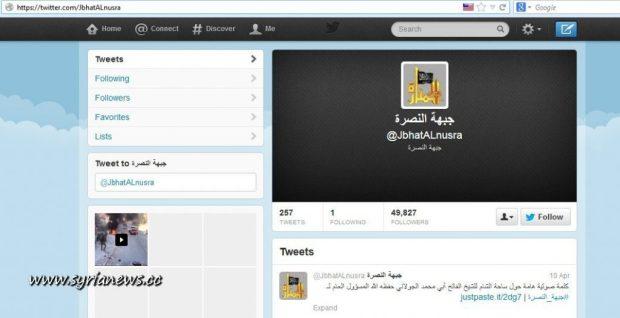 Al-Nusra Front Twitter Account