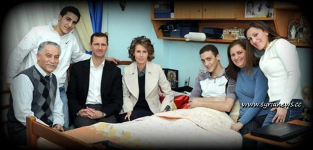 Syrian first couple checking on victim student Pierre Lahham