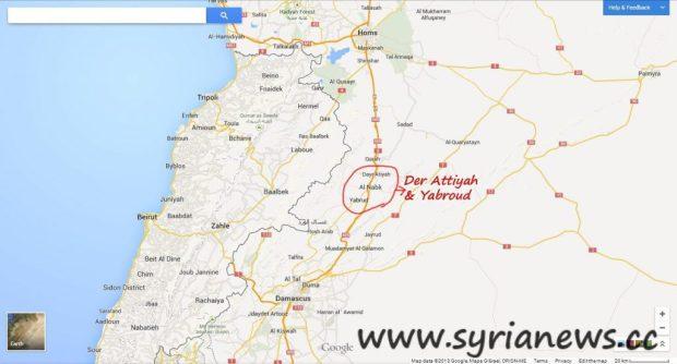 Der Attiyeh & Yabroud in northern Damascus countryside