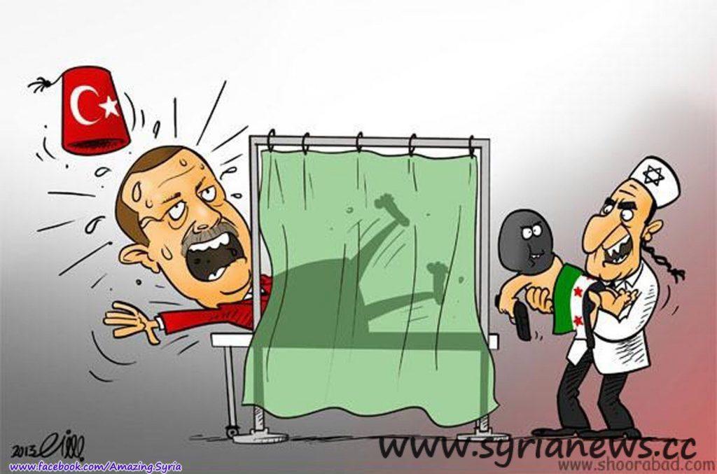 erdugan cartoon 1024x677 Turkey Augments AlQaeda in Syria with 1,300 Terrorists