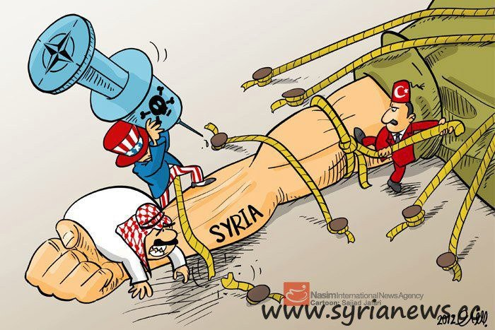 Foreign powers against the Syrian people. Proxy war in Syria.