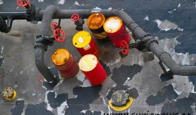 Oil Barrels and piping.
