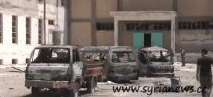 Destructions in al-Matahin, Damascus countryside.