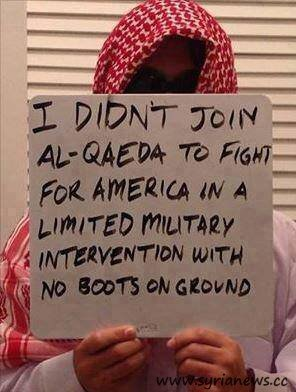 A disappointed Wahhabi Al Qaeda FSA terrorist