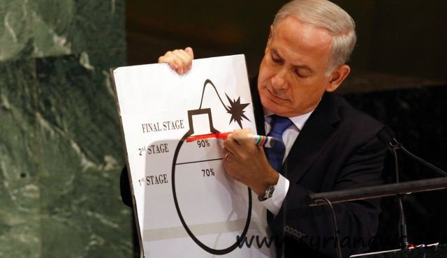 Netanyahu draws the red line and makes himself completely ridiculous.