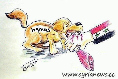 Hamas Biting Evidence of Hamas Fighting the Syrian Arab Army