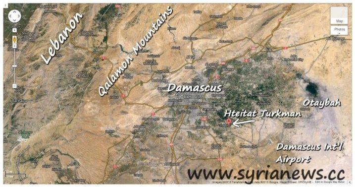 Hteitat Turkman Village in Damascus Ghouta